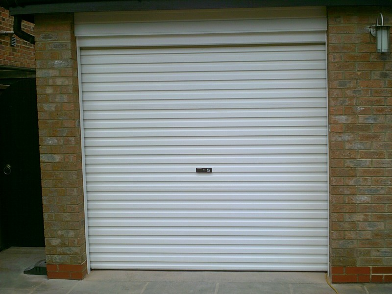 Rosewood Roller Garage door (Before)