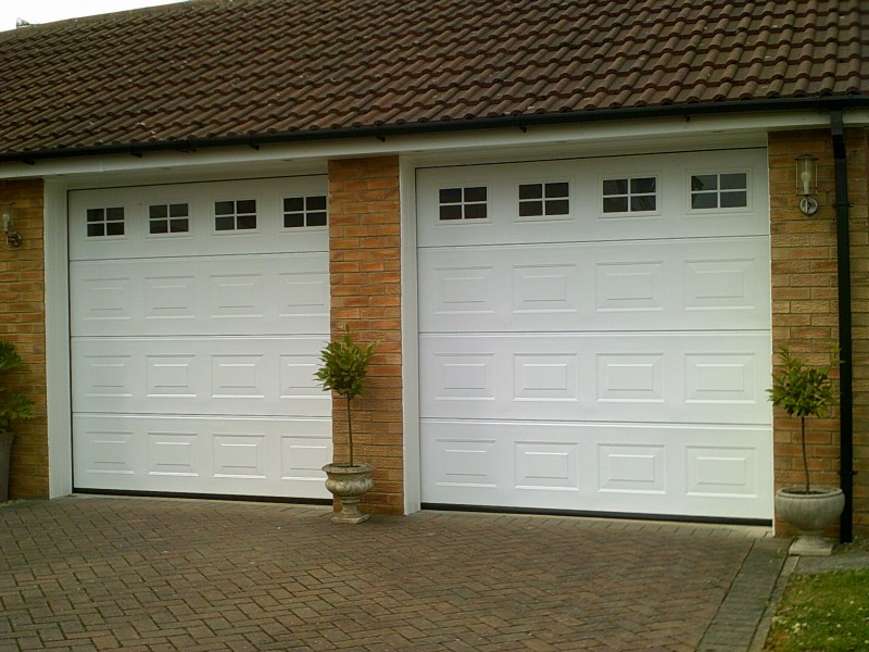 Two Georgian Sectional Garage Door (After)