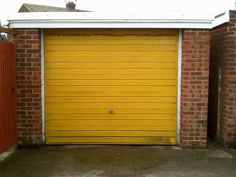Large Rib Style Sectional Garage door (Before)