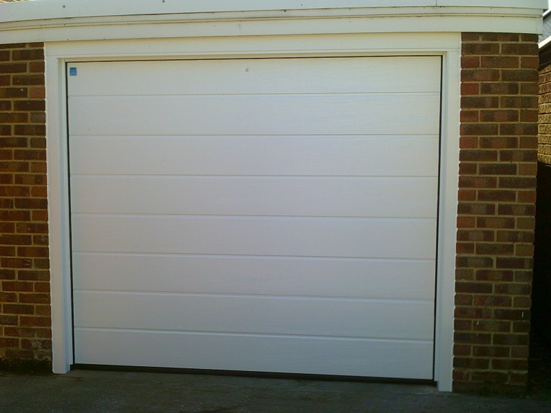 Large Rib Style Sectional Garage door (After)